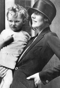 Christabel, Lady Ampthill, then Mrs John Russell, with her son, Geoffrey Denis Erskine Russell, 4th Baron Ampthill, CBE, PC (died 4/2011) was a British hereditary peer and businessman. . REXSCANPIX.